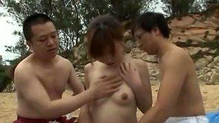 Best Japanese girl Mio Yamashiro, Mai Takakura, Rui Hazuki in Horny Outdoor, Beach JAV video
