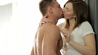 Amazing russian brunette young Ariadna in enjoyable sex