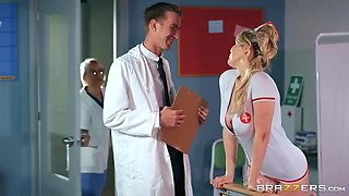 Busty Nurse Marica Chanelles First Day At Work Ends