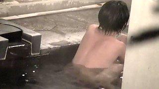 Voyeur cam shooting Asian dolls in the sauna pool nri111 00