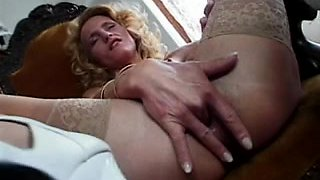 Gang bang of a sweet mature with anal and oral sex