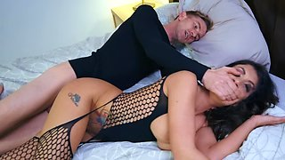 Sultry MILF uses stepson's huge dick to satisfy own needs