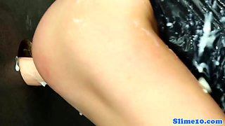 Masturbating gloryhole eurobabe in her jeans