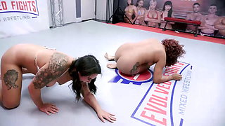Daisy Ducati Wrestling Miss Demeanor With Pussy Eating