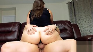 Taboo MILF Mom with Big Ass Fucking Son and Creampie