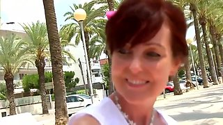 Hot brunette, Brigitte likes to go to vacations alone and fuck random, local guys on the beach