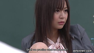 Sexy horny Japanese teacher wants to discipline her students