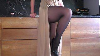 Alina Rose In Hot Stepsister With Nylon Pantyhose Handjob - Cum On Pantyhose