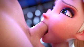 Elsa Deepthroats (Animation With Sound)