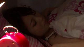 Sleeping japanese daughter fuck by her father