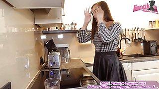 Sexy german petite teen fuck user in kitchen