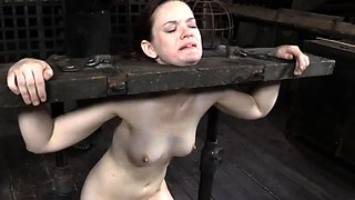 Bounded cutie is dripping wet from her punishment
