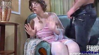 Shy grandma gets used and fucked hard