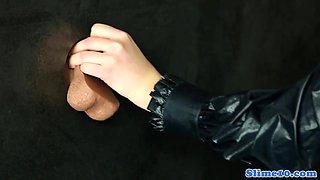 Morgan Blanchette at gloryhole getting wam