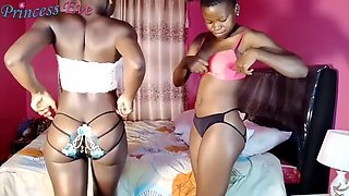 African youtuper princess eve tryon lingerie w sister