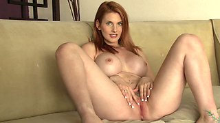Solo redheads in a sexy striptease compilation