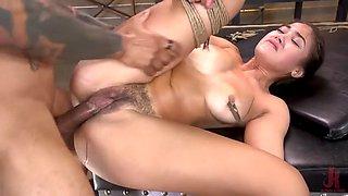 Curvy kendra spade is enslaved by big black cock