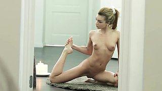 18yo teenage newcomer Sonya Sweet gets her petite flexible
