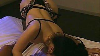 Crazy Japanese chick Mirei Asaoka in Amazing Stockings, Lingerie JAV clip