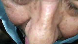 Sucking and Licking big ebony clit