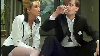 Nina hartley sucks a cock at a wedding