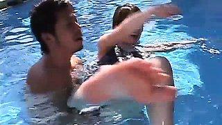 Boyley fucking hardcore by the pool