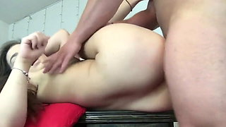 Chubby Slut Plays With Her First Creampie