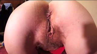 What a nice hairy pussy she has there and this woman loves rubbing her cunt
