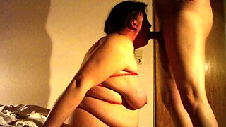 Fat amateur lady gets fucked rough and swallows a hot load