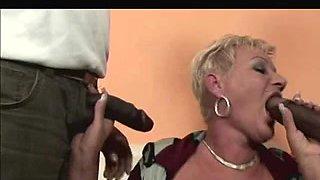 Shorthair-Golden-Haired Granny - Bbc double penetration
