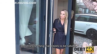 Czech Beauty Has To Spread Legs Or The Debt Collector Impounds Car