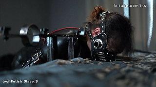 fx-tube com Latex cute slave spank and bondage