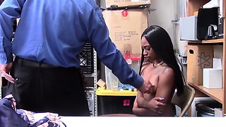 Ebony stepsisters ride an officers big cock as a punishment