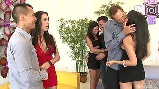 Annie Cruz and Kortney Kane have a blast during an orgy
