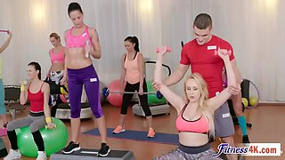 angel wicky and katarina muti getting fucked in threesome after workout