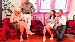 Excellent scenes of foursome adult play with nudity