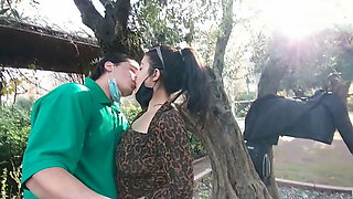 (Risky Public) Hot Sex with Big Ass and Cumshot in the Park
