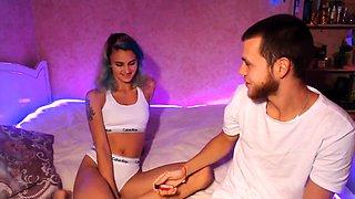 Amateur blonde teen sucks dick in hot pov blowjob sex tape