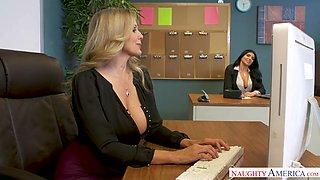 Julia Ann & Romi Rain - naughtyoffice