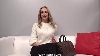 The Blonde During The Casting Showed The Ability To Do Blowjob And Eng