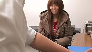Perfect Japanese gets drilled during kinky Gyno exam
