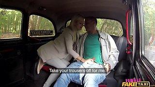 Blonde beauty fucks her passenger