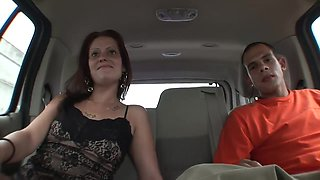 Cowgirl Riding And Side Fucking In The Car For A Picked Up Busty