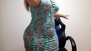 green floral nudity dress