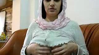 Hot Arabic sexy aunty boob press and fucked well