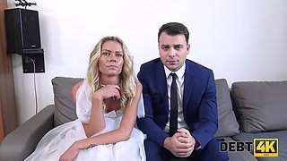Nasty bride Claudia Macc is fucked by stranger in front of groom