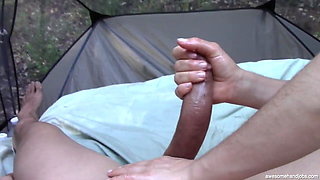 Hands Free Ruined Orgasm Outside in a Tent (Massive)