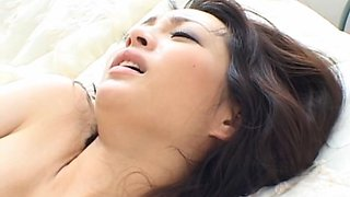 Black cock tears gorgeous Saeko Kimishima tight pussy apart