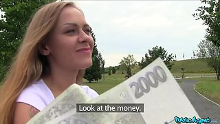 Petite Russian takes cock for cash