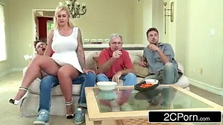 cheating wife fucked next to husband